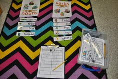 Noun and Verb Sort with Pictures and Recording Sheet Incredible K Kids Nouns And Verbs, Parts Of Speech, Recording Sheets, Sorting, Fun Ideas, Grammar, Activities For Kids, Literacy, Kindergarten