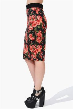 Rose Garden Pencil Skirt in Black love this skirt...not the shoes tho...