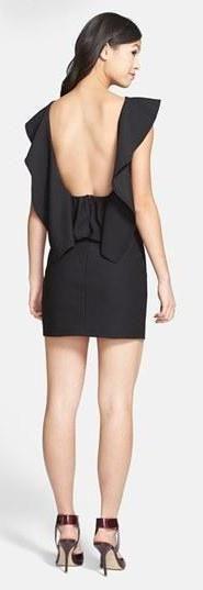 Love! Ruffle Back Body-Con Dress