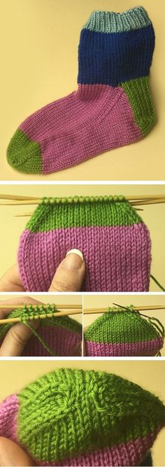 Free sock tutorial with free sock knitting pattern by Mary Beth Temple. This is the final part of the tutorial with links to the first two parts. affiliate link
