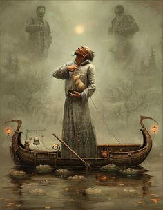 """""""Canal 4"""" painting by Andrew Ferez"""