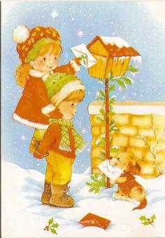 Vintage Christmas Card Christmas Graphics, Christmas Clipart, Vintage Christmas Cards, Christmas Greetings, Vintage Cards, Christmas Postcards, Christmas Scenes, Christmas Nativity, Christmas Past