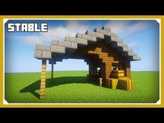 Minecraft: How To Build A Stable Tutorial (Easy Survival Minecraft Design) - YouTube
