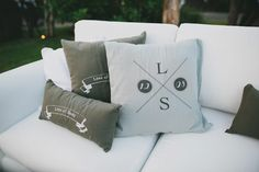 Personalize pillows for the chill out area