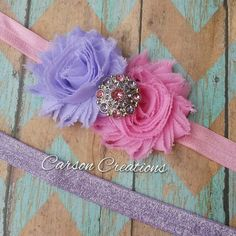 Hey, I found this really awesome Etsy listing at https://www.etsy.com/listing/233707009/pink-and-lavender-shabby-shic-headband