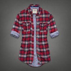 ililily Women Plaid Buffalo Checkered Sherpa Lined Flannel Shirt ...