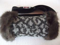 Rabbit Fur Muff-hand knitting with wool-doubleside-unique-trendy from cerritacorium on dawanda.com