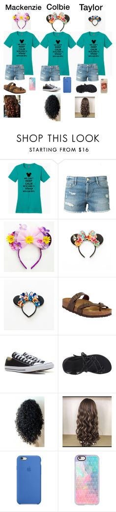 """""""If only we could go to disney together."""" by mackenzielacy814 ❤ liked on Polyvore featuring Frame Denim, Disney, Birkenstock, Converse, Chaco, Nicole Miller and Casetify"""