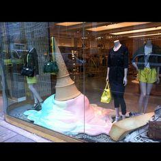 Mulberry window display, New Bond Street