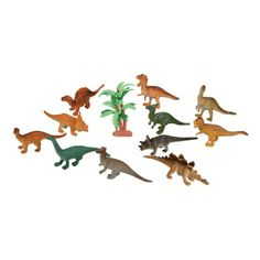 Small Dinosaurs (Bulk Pack of 12 Pieces) at theBIGzoo.com. Perfect for table decoration, cupcake toppers, cake decoration, or party favors!