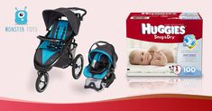 Enter to Win Baby Stroller & Car Seat + 6 Months Supply of Huggies Diapers [$500]