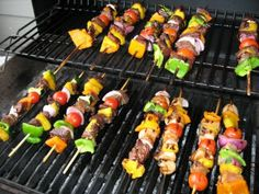 Meat Marinade for the Kabobs  ½ cup apple juice  ¾ cup sugar  ½ soy sauce  ½ cup oil  1 clove garlic  ½ t ginger  ½ onion chopped