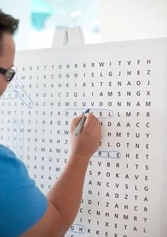 guest book ideas - this is really cool, but Chris and I would do crosswords I think haha
