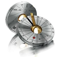TimeZone : Industry News » Pre-Basel 2013 - Meister Collapsible Compass Sundial