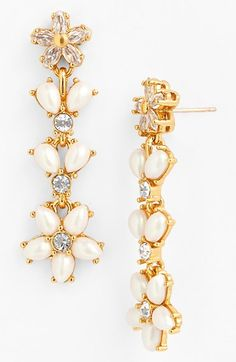 kate spade new york 'mini bouquet' linear earrings available at #Nordstrom
