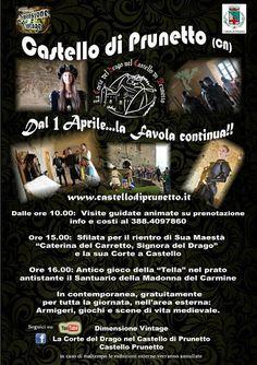 Italia Medievale: Apertura stagione 2018 al Castello di Prunetto (CN...