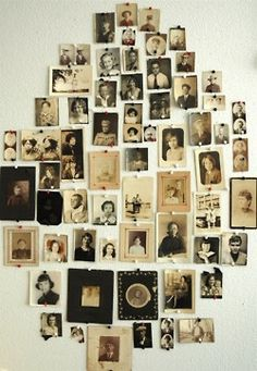vintage photo collection Would be awesome to have a large wall with a family tree to display photos of older generations, too! Old Photos, Vintage Photos, Antique Photos, Vintage Photographs, Vintage Portrait, Vintage Ideas, Vintage Stuff, Vintage Cards, Unique Vintage