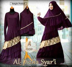 Gamis Syar'i Modern AL-DHIZHA SYARI PURPLE - http://warongmuslim.com/gamis-syari/gamis-syari-modern-al-dhizha-syari-purple/