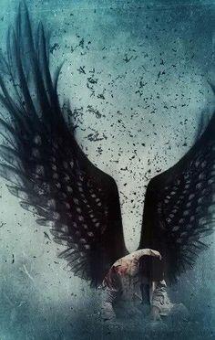 Castiel ~ Supernatural Fan Art ~ This is so beautiful. It always makes me feel so sad for Castiel, gah, so many feels. Supernatural Fans, Supernatural Wallpaper, Supernatural Background, Fantasy Kunst, Fantasy Art, Fantasy Romance, Shadowhunters, Ange Demon, M Anime