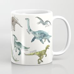 Buy Dinosaurs Mug by Amy Hamilton. Worldwide shipping available at Society6.com. Just one of millions of high quality products available.