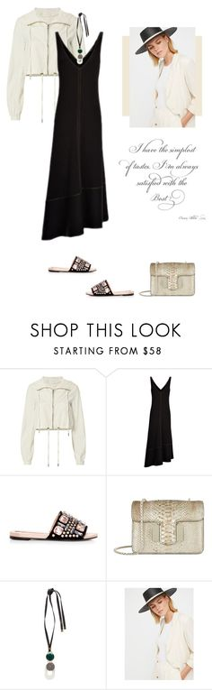 """""""Black Summer Dress by JOSEPH"""" by fashionmonkey1 ❤ liked on Polyvore featuring A.L.C., Rochas, Tom Ford, Marni, Free People and joseph"""