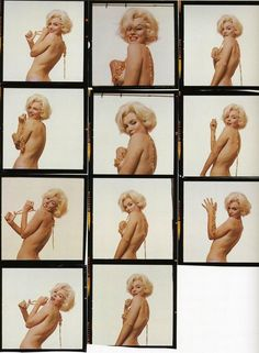 #MarilynMonroe #ProofSheets - #ContactSheets from photo session #photography #BurstMode #Expressions #portraits