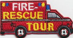 Boy Girl Cub Fire Rescue Tour EMS Ambulance Fun Patches Crests Badge Guide Scout | eBay