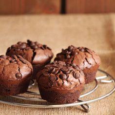 Τα πιο brownie μάφινς - The one with all the tastes Sweets Recipes, Muffin Recipes, Cupcake Recipes, Cupcake Cakes, Cupcakes, Food Network Recipes, Food Processor Recipes, Cake Story, Mousse