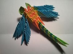 3d Origami Dragonfly magnet