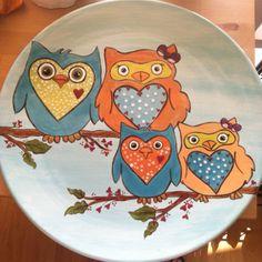 Retro owls @Katie Schmeltzer Schmeltzer Schmeltzer Stewart  Perfect for baby girl!