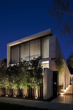 landscape lighting design, installation instructions, how-to guides, maintenance tips & project ideas Architecture Résidentielle, Contemporary Architecture, Contemporary Houses, Japanese Architecture, Sustainable Architecture, Contemporary Design, Modern Fence Design, Modern House Design, Facade Lighting