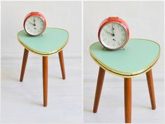 Vintage tripod mint green coffee table flower table kidney Formica Mid-Century Modern 60s GDR East Germany by MightyVintage on Etsy https://www.etsy.com/listing/468069505/vintage-tripod-mint-green-coffee-table