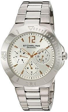 Stuhrling Original Womens 55801 Symphony Regent Capital Quartz Watch * You can find more details by visiting the image link. (This is an affiliate link) G Watch, Rolex Watches, Wrist Watches, Baby G, Casual Watches, Stainless Steel Bracelet, Link Bracelets, Quartz Watch, The Originals