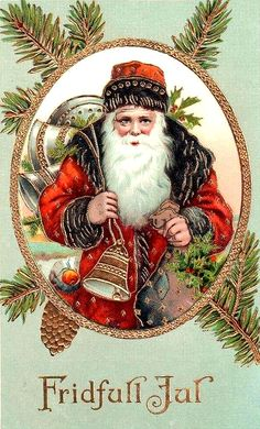 Santa vintage postcard