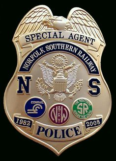 Norfolk Southern Transit Authority, Railroad, Police, Badge,