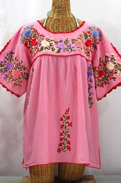 0cd55ee2990 Plus size peasant blouse Mexican-style by Siren. The