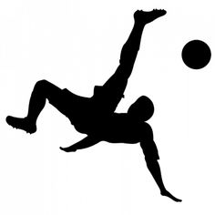 Homem jogando imagem de vetor silhueta de futebol | Vectores de Domínio Público