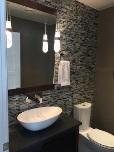 Ideas Bathroom Interior Design Contemporary Powder Rooms For 2019 Modern Shower Doors, Gray Shower Tile, Mini Bad, Washbasin Design, Powder Room Design, Chic Bathrooms, Bathroom Interior Design, Bathroom Renovations, Powder Rooms