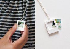 Make this Polaroid charm necklace using Sculpey clay. Make this Polaroid charm necklace using Sculpey clay. Make this Polaroid charm necklace using Sculpey clay. Diy Photo, Diy Projects To Try, Craft Projects, Photo Projects, Craft Ideas, Advent Calendar Gifts, Diy Stockings, Diy Cadeau, Ideias Diy