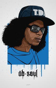 Ab Soul Art Print by bokkaboom - X-Small Ab Soul, Soul Art, Dope Cartoons, Dope Cartoon Art, Caricature, Trill Art, Rapper Art, Anime Rapper, Hip Hop Artists