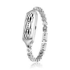 7efe7b99d For Fitbit Flex 2 Jewelry Swarovski Crystals Bangle 316L Metal Bracelet fit  for Flex 2 Accessories