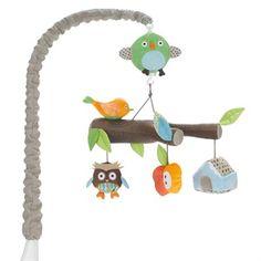 Mobile musical animaux hibou treetop