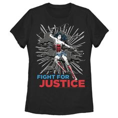 Superhero Fashion, Beauty Quotes For Women, Fight For Justice, Black Media, Woman Quotes, Fitness Fashion, Graphic Tees, Short Sleeves, Wonder Woman