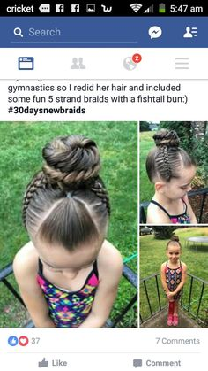 5 Cutest Kid Hairstyles for First Day of School Lil Girl Hairstyles, Pretty Hairstyles, Braided Hairstyles, Toddler Hairstyles, Hair Due, Her Hair, Gymnastics Hair, Natural Hair Styles, Long Hair Styles