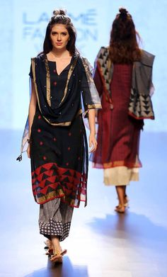Collection at Lakme Fashion Week, 2016 - Fashion ~ India, SouthAsia - # Indian Outfits Modern, Casual Indian Fashion, Ethnic Fashion, Fashion Week 2016, Lakme Fashion Week, India Fashion, Fashion Weeks, Indian Attire, Indian Ethnic Wear