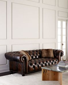 Curtis+Tufted+Chesterfield+Sofa+by+Bernhardt+at+Neiman+Marcus.