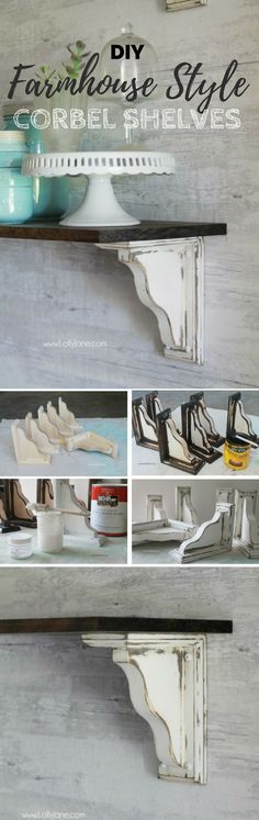 Check out the tutorial: #DIY Farmhouse Style Corbel Shelves /istandarddesign/