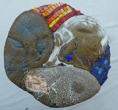 """Incontro""-part. Ceramica in riduzione, vetro, ferro."