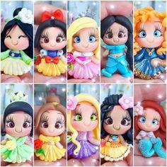 Sculpey Clay, Polymer Clay Crafts, Disney Word, Clay Figures, Pasta Flexible, Data, Biscuit, Baby Dolls, Disney Princess