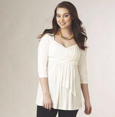 48d9e7de01 Monroe Main New Womens White Greek Goddess Top Misses Size XL Spring Summer